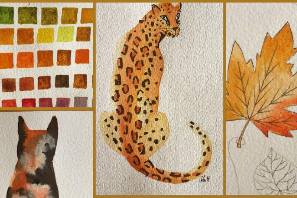 Illustration de l'automne à l'aquarelle