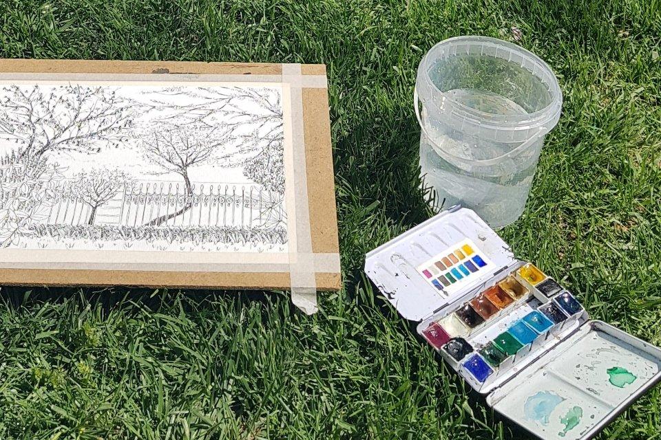 L'art d'illustrer à l'aquarelle - croquis de la nature